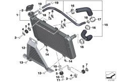 Goto diagram: BMW Classic Motorrad Modell G 310 GS (0G22)( BRA ), Category 17.11 Radiator :: Diagram: 17_1074