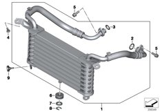 Goto diagram: BMW Classic Motorrad Modell HP4Race (0E31, 0E33)( ECE ), Category 17.21 OIL COOLER :: Diagram: 17_1184