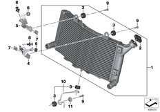 Goto diagram: BMW Classic Motorrad Modell F 750 GS (0B08, 0B18)( USA ), Category 17.11 Radiator with mounting :: Diagram: 17_1241