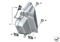 Goto diagram: BMW Classic Motorrad Modell F 750 GS (0B28)( BRA ), Category 17.13 EXPANSION TANK :: Diagram: 17_1244