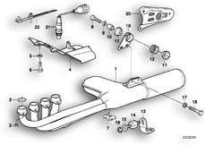 Goto diagram: BMW Classic Motorbike Model K 100 RS (0523,0533)( USA ), Category 18.05 Exhaust system :: Diagram: 18S0280