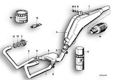 Goto diagram: BMW Classic Motorrad Modell R 80 G/S( ECE ), Category 18.05 Exhaust system :: Diagram: 18_0262