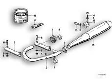 Goto diagram: BMW Classic Motorbike Model R65( USA ), Category 18.05 Exhaust system :: Diagram: 18_0263