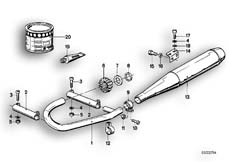 Goto diagram: BMW Classic Motorbike Model R 100 RS( ECE ), Category 18.05 Exhaust system :: Diagram: 18_0271