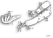 Goto diagram: BMW Classic Motorbike Model K 75 84 (0561)( ECE ), Category 18.05 Exhaust system :: Diagram: 18_0276