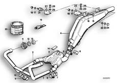 Goto diagram: BMW Classic Motorbike Model R 100 GS PD( ECE ), Category 18.05 Exhaust system :: Diagram: 18_0278