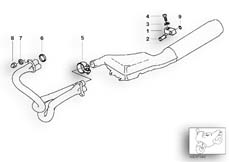 Goto diagram: BMW Classic Motorbike Model R 1100 RS 93 (0411,0416)( ECE ), Category 18.51 Exhaust system parts with mounting :: Diagram: 18_0285