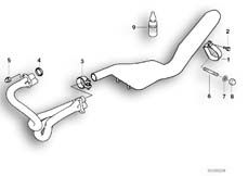 Goto diagram: BMW Classic Motorbike Model R 1100 GS 94 (0404,0409)( USA ), Category 18.51 Exhaust system parts with mounting :: Diagram: 18_0286