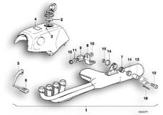 Goto diagram: BMW Classic Motorbike Model K 100 RS 83 (0502,0503,0513)( ECE ), Category 18.05 Set, mounting parts, exhaust system :: Diagram: 18_0289