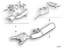 Goto diagram: BMW Classic Motorbike Model R 100 GS PD( ECE ), Category 18.05 Conversion kit, exhaust system, low :: Diagram: 18_0291