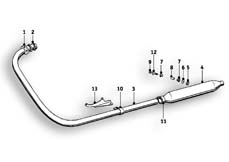 Goto diagram: BMW Classic Motorrad Modell R25/3( ECE ), Category 18.05 Exhaust system :: Diagram: 18_0357