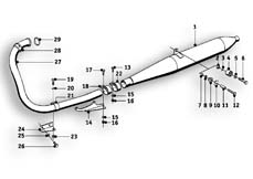 Goto diagram: BMW Classic Motorrad Modell R26( ECE ), Category 18.05 Exhaust system :: Diagram: 18_0358
