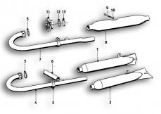 Goto diagram: BMW Classic Motorbike Model R51/2( ECE ), Category 18.05 Exhaust system :: Diagram: 18_0360