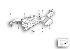 Goto diagram: BMW Classic Motorbike Model R 1150 GS Adv. 01 (0441,0492)( USA ), Category 18.51 FRONT SILENCER :: Diagram: 18_0391