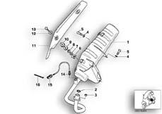 Goto diagram: BMW Classic Motorrad Modell C1 (0191)( ECE ), Category 18.51 Exhaust system parts with mounting :: Diagram: 18_0406