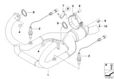 Goto diagram: BMW Classic Motorbike Model R nineT Racer (0J21, 0J23)( USA ), Category 18.51 Exhaust system parts with mounting :: Diagram: 18_0529