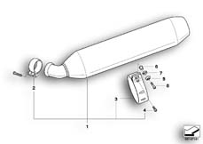 Goto diagram: BMW Classic Motorrad Modell R 900 RT 05 SF (0367,0387)( ECE ), Category 18.51 Muffler system :: Diagram: 18_0614