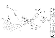 Goto diagram: BMW Classic Motorbike Model F 800 R (0215)( BRA ), Category 18.51 Exhaust manifold :: Diagram: 18_0828