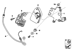 Goto diagram: BMW Classic Motorbike Model S 1000 RR 12 (0524,0534)( USA ), Category 18.51 Actuator unit, exhaust flap, interf.pipe :: Diagram: 18_0860