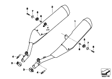 Goto diagram: BMW Classic Motorrad Modell K 1600 GTL (0602, 0612)( ECE ), Category 18.51 Muffler system :: Diagram: 18_0901