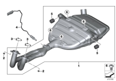 Goto diagram: BMW Classic Motorbike Model C 600 Sport (0131, 0132)( ECE ), Category 18.51 Exhaust system parts with mounting :: Diagram: 18_0943