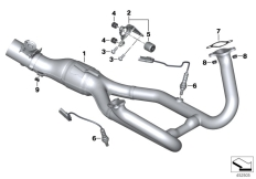 Goto diagram: BMW Classic Motorrad Modell R 1200 R (0A04, 0A14)( ECE ), Category 18.51 Exhaust manifold :: Diagram: 18_0998