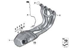 Goto diagram: BMW Classic Motorbike Model S 1000 R 17 (0D72)( BRA ), Category 18.51 Exhaust manifold :: Diagram: 18_1024