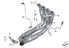 Goto diagram: BMW Classic Motorrad Modell S 1000 RR 15 (0D30)( BRA ), Category 18.51 Exhaust manifold :: Diagram: 18_1053