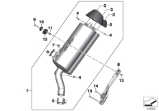 Goto diagram: BMW Classic Motorrad Modell C 650 Sport 16 (0C04, 0C14)( USA ), Category 18.51 MUFFLER CATALYST/ATTACH.PARTS :: Diagram: 18_1137
