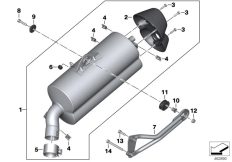 Goto diagram: BMW Classic Motorrad Modell C 650 GT 16 (0C05, 0C15)( ECE ), Category 18.51 MUFFLER CATALYST/ATTACH.PARTS :: Diagram: 18_1175