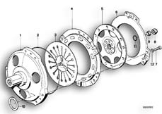 Goto diagram: BMW Classic Motorrad Modell K 100 RS 83 (0502,0503,0513)( USA ), Category 21.05 Clutch :: Diagram: 21S0073