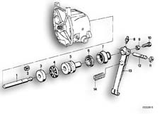Goto diagram: BMW Classic Motorbike Model R 100 S( ECE ), Category 21.10 Clutch control :: Diagram: 21_0069