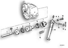 Goto diagram: BMW Classic Motorbike Model R75/5( ECE ), Category 21.10 Clutch control :: Diagram: 21_0071