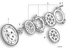 Goto diagram: BMW Classic Motorrad Modell R 1100 R 94 (0402,0407)( USA ), Category 21.21 Clutch - single parts :: Diagram: 21_0097