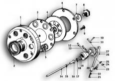 Goto diagram: BMW Classic Motorbike Model R51/2( ECE ), Category 21.05 CLUTCH PLATE :: Diagram: 21_0135