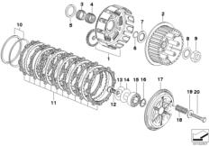 Goto diagram: BMW Classic Motorbike Model G 650 GS 09 (0178,0179)( ECE ), Category 21.21 Clutch - single parts :: Diagram: 21_0242