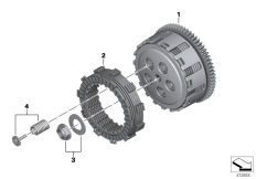 Goto diagram: BMW Classic Motorrad Modell G 310 GS (0G02, 0G12)( USA ), Category 21.21 Clutch - single parts :: Diagram: 21_0308