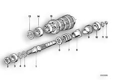 Goto diagram: BMW Classic Motorbike Model K 100 RS 83 (0502,0503,0513)( ECE ), Category 23.05 5 SPEED TRANSMISSION-DRIVE SHAFT :: Diagram: 23S0273
