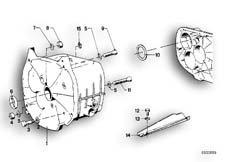 Goto diagram: BMW Classic Motorbike Model R 100 RS( ECE ), Category 23.05 Gearbox housing/mounting parts/gaskets :: Diagram: 23_0249