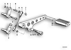 Goto diagram: BMW Classic Motorrad Modell R 80 R 91( ECE ), Category 23.05 EXTERNAL SHIFTING PARTS/SHIFT LEVER :: Diagram: 23_0253