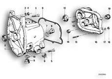 Goto diagram: BMW Classic Motorbike Model R75/5( ECE ), Category 23.05 Gearbox housing/mounting parts/gaskets :: Diagram: 23_0259