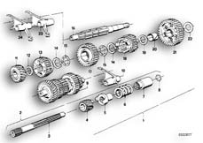 Goto diagram: BMW Classic Motorbike Model R50/5( ECE ), Category 23.05 5-SPEED SPORTS GEARBOX PARTS :: Diagram: 23_0267