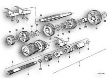 Goto diagram: BMW Classic Motorbike Model R 80 RT( USA ), Category 23.05 5-SPEED SPORTS GEARBOX PARTS :: Diagram: 23_0270