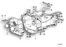 Goto diagram: BMW Classic Motorbike Model K 1100 LT (0526, 0536)( ECE ), Category 23.11 Gearbox housing/mounting parts/gaskets :: Diagram: 23_0272