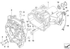 Goto diagram: BMW Classic Motorrad Modell R 1100 R 94 (0402,0407)( USA ), Category 23.11 Gearbox housing/mounting parts :: Diagram: 23_0285