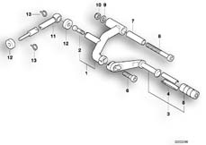 Goto diagram: BMW Classic Motorbike Model K 1200 GT 01 (0548,0558)( USA ), Category 23.41 External gearshift parts/Shift lever :: Diagram: 23_0288