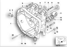 Goto diagram: BMW Classic Motorbike Model K 1200 GT 01 (0548,0558)( USA ), Category 23.11 Gearbox housing/mounting parts/gaskets :: Diagram: 23_0733