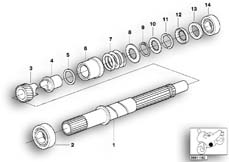 Goto diagram: BMW Classic Motorbike Model K 1200 GT 01 (0548,0558)( USA ), Category 23.21 Gearbox drive shaft :: Diagram: 23_0734