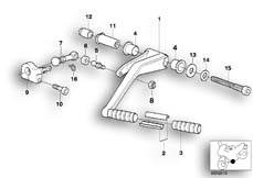 Goto diagram: BMW Classic Motorbike Model R 1200 C Indep. 00 (0405,0433)( ECE ), Category 23.41 External gearshift parts/Shift lever :: Diagram: 23_0743