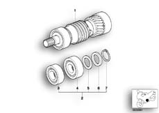 Goto diagram: BMW Classic Motorbike Model R 1100 GS 94 (0404,0409)( USA ), Category 23.21 5-speed gearbox input shaft M 97 :: Diagram: 23_0754
